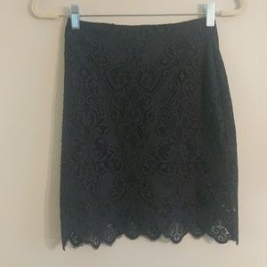 Brand New FLL black skirt and crop top